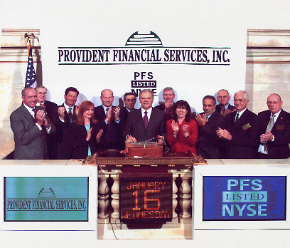 Provident Financial Services Inc - Publicly Held Company
