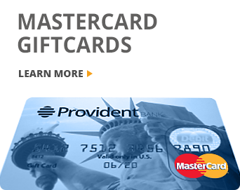 Provident Bank Mastercard Gift Cards