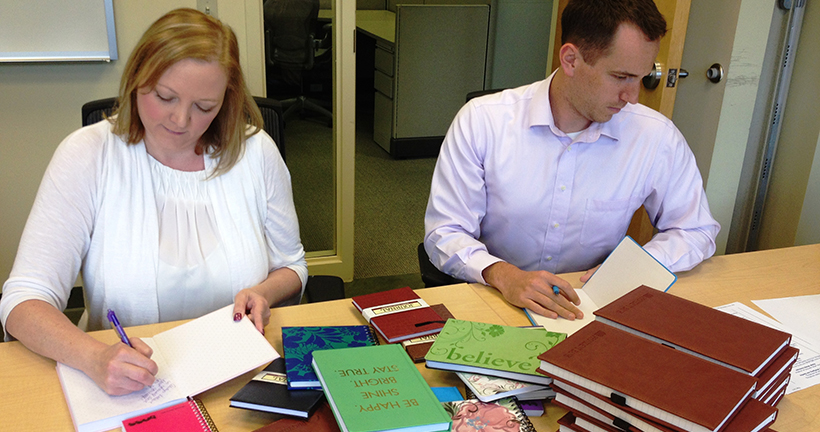 The Provident Bank Donates Journals To Haven House - Banks In Pennsylvania