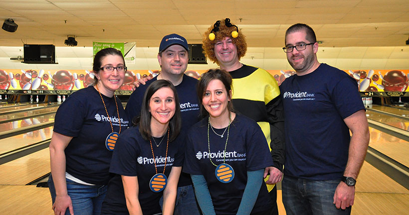 Provident Bank Employees Raise over 9400 USD For Bowl for Kids Sake - Community Oriented Bank - NJ PA