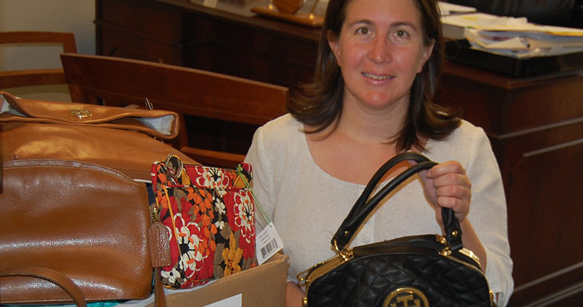 Provident Bank Donates Handbags For Jersey Battered Women's Services - Give Back To The Community